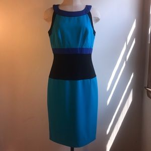 NWT Color Block Sheath Dress